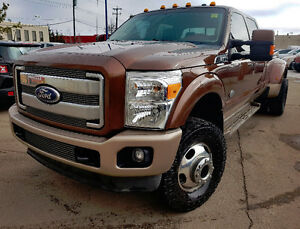 2011 LOW KM FORD F350 KING RANCH DIESEL DUALLY