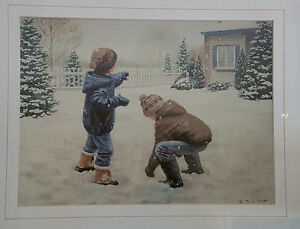 Mary G Smith -- children playing in the snow