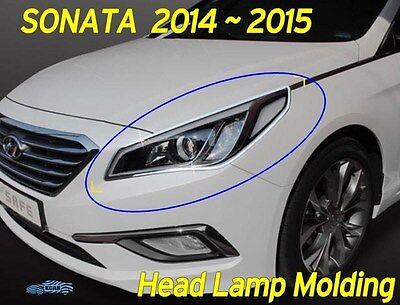 Chrome Front Head Lamp Molding Trim Garnish Cover for HYUNDAI 2011-2014 Sonata