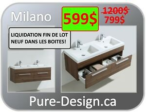 mga liquidation vanit de salle de bain 48 pure design city of montral greater - Salle De Bain Vanite Montreal