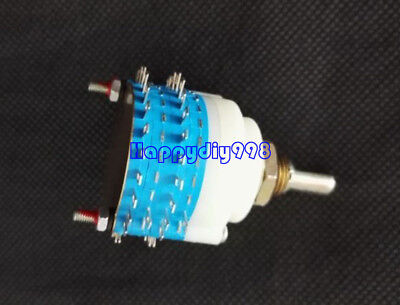 1pc Rotary Switch 2 Pole 23 Position Step Volume Attenuator Potentiometer