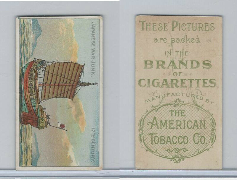 T418 American Tobacco, Old And Ancient Ships, 1910, Japanese War Junk