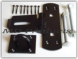 Heavy Duty Vertical Hasp and Staple Black