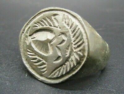 Super Medieval damaged ring bezel with heraldic seal