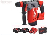 Milwaukee M18 CHPX-502C 4.0 Joules FUEL Brushless Cordless 4 Mode SDS Hammer Drill 5.0Ah RAPIDCHARGE