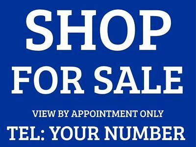 Shop For Sale Sign Boards x2