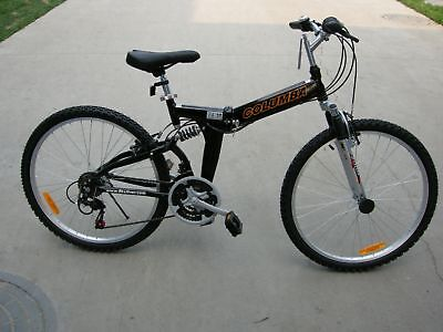 "COLUMBA 26"" Alloy Folding Bike Shimano 18 speed Black (RJ26A_BLK)"