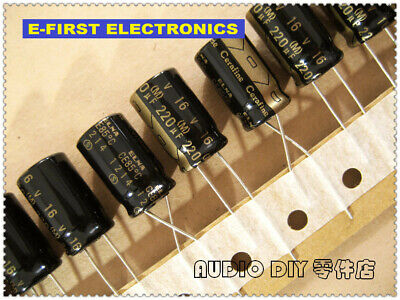 5pcs Elna Cerafine Series 220uf16v 220uf 10x16mm Audio Electrolytic Capacitor
