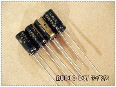 10pcs Elna Black Gold Silmic Ii 4.7uf50v Audio Electrolytic Capacitor