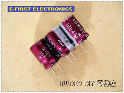 10pcs100pcs Elna Silmic Ii 47uf16v 47uf 8x11.5mm Audio Electrolytic Capacitor