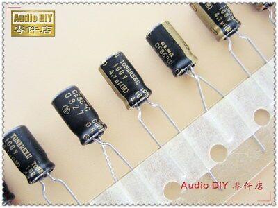 20pcs Elna Black Gold Robe Tonerex Ii 4.7uf100v Audio Electrolytic Capacitor