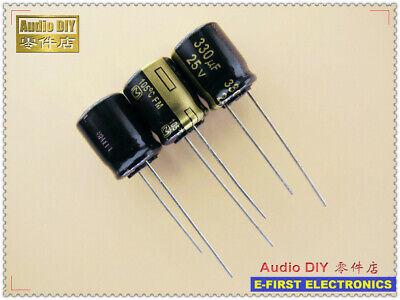 10pcs100pcs Panasonic Fm Series 330uf25v 330uf 10x12.5 Electrolytic Capacitor