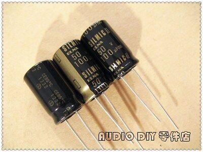 2pcs Elna Black Gold Silmic Ii Generation 100uf50v Audio Electrolytic Capacitor