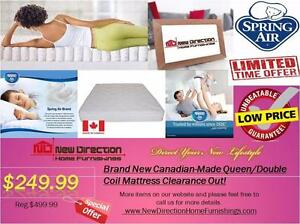 Additional 20% OFF On all Canadian Made Mattress for Clearance Items@New Direction Home Furnishings