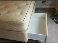 double divan bed with 4 big drawers,headboard and mattress