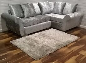 BRAND NEW DQF Crush Corner Sofa 8ft x 6ft. ONLY £499!!