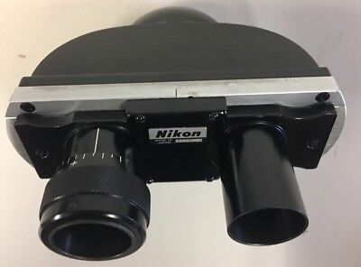 Nikon Microscope Binocular Head Eyepiece Viewing Unit A-1 Condition