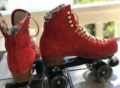 Moxi Lolly Size 7 Poppy Red Roller Skates, (Women's Size 8 to 8.5) BRAND NEW!