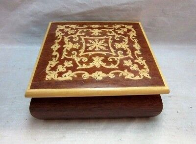 Wood marquetry jewelry box