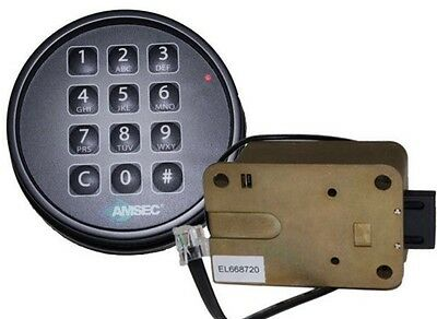 Amsec Esl10xl Black Dial Digital Safe Lock Kit For Gun Jewelry Safe 0615779