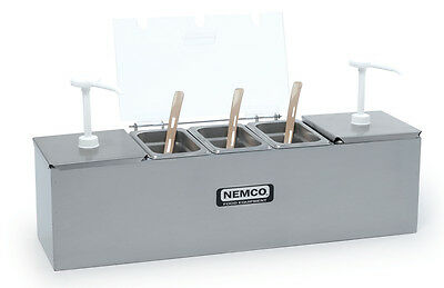 Nemco 88101-cb- Hot Dog Condiment Bar Station W1.5qt Jars Pumps