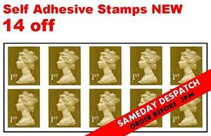 14 x 1st First Class NEW stamps - Royal Mail ALL self adhesive - DESPATCH NOW