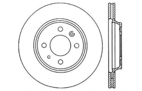 Disc Brake Rotor Front Centric 121.38005 fits 1986 Saab