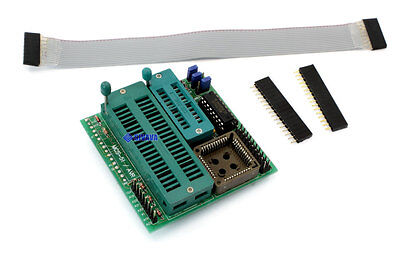 Mcs-51  At89 51 Avr Atmel Plcc 44 Adapter For Willem Eprom Programmer
