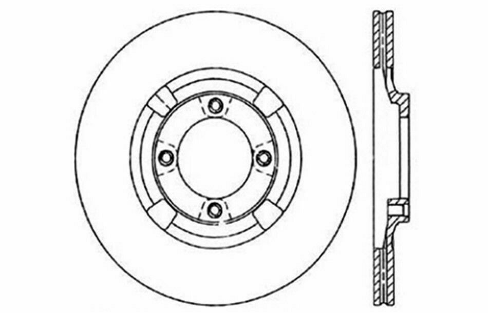 Dodge Charger Shelby 5 Lug 83-89 Brake Rotors FRONT