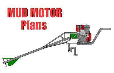 Mud Motor, Long Tail Boat Motor Plans, Swamp Motor - DIY, Duck Hunting, Outboard