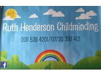 RUTH HENDERSON CHILDMINDING