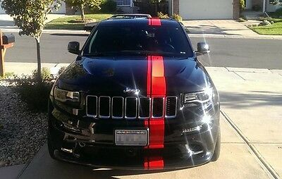 (Sticker Decal Stripe kit for Jeep Grand Cherokee mirror graphics roof srt8 hood)