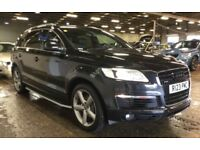 AUDI Q7 3.0 TDI S Line Tiptronic Quattro ** FULL PANORAMIC ROOF ** SIDE STEPS ** FULL SERVICE