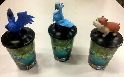 Rio 2 Blu Jewel Luiz  Theater 12oz cups and  Toppers NEW - Rio Party Supplies
