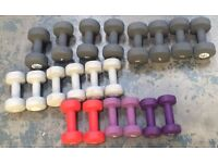 Vinyl Dumbbells (Slightly Damaged) - RRP £328