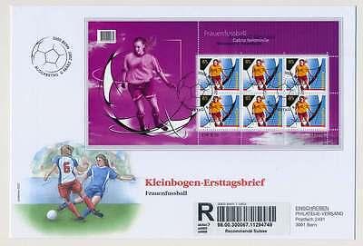 Schweiz Nr. 1997 Kleinbogen auf Ersttagsbrief / FDC, Frauenfußball 2007 (28357)