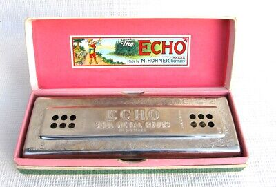 Vintage M. Hohner Echo Harp Harmonica Made In Germany With Box for sale  Canada