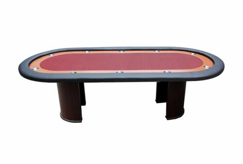 """96"""" Poker table 10 player half moon legs, NEW speed cloth color choices !!"""