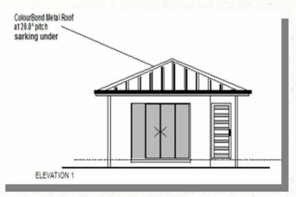Granny Flat Kit Home - Plan 49 1 Bedrooms - Size : 49.42 Flat Pac