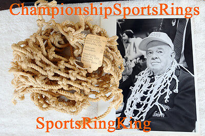 1985 VILLANOVA JAKE NEVIN NATIONAL CHAMPIONSHIP NCAA GAME USED NET & RING (1985 Villanova Championship)
