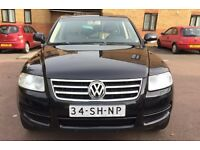 LHD LEFT HAND DRIVE VOLKSWAGEN TOUAREG 2.5 TDI 4WD BLACK 2005 SAT NAV AIR SUSPENSION FULLY LOADED