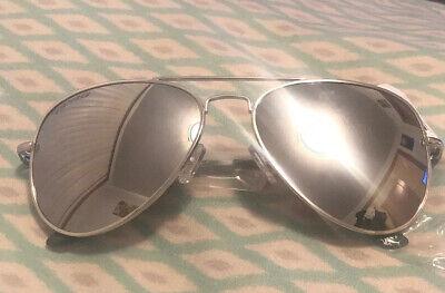 New Designer Peppers Eyewear Freeway Silver Mirror Aviator Polarized (Freeway Eyewear)