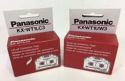 Lot Of Two 3 Pcs Panasonic Kx-wt1lc3 Lift-off Correction Tape New In Box