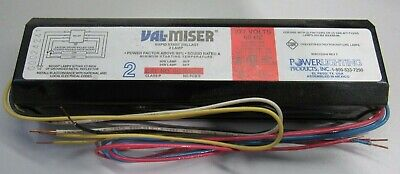 2 GE Watt-Miser 2 Lamp Rapid Start Ballast - 4ft T12 34,35W 2 F40WT12//RS or