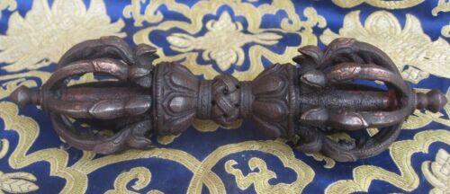 Antique Master Quality Handmade Iron 9 Pointed Tibetan Vajra, Dorji, Nepal