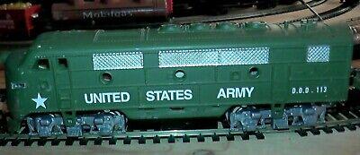 HO Scale U.S. Army Train Set Ready For War Diesel Loco 11 Cars Munitions Depot +