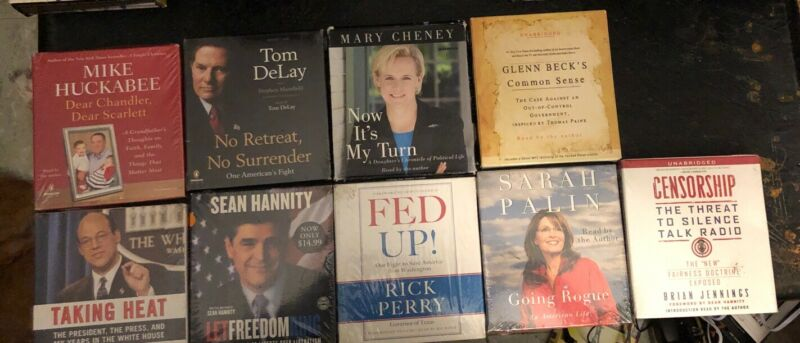 Conservative Political Audio Book Cd Lot 40