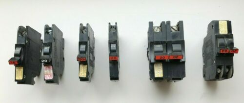 Lot of Assorted Federal Pacific Circuit Breakers - Stab-Lok
