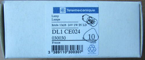 (10) Telemecanique DL1CE024 Lamps 2W 24V NEW!!! in Factory Box Free Shipping