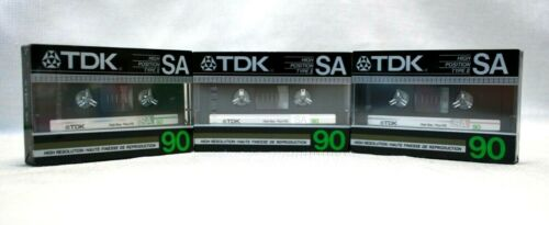 TDK HIGH POSITION TYPE II SA90 - Pack of 3  (N/S 1985)